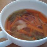 人参とレタスと餃子の皮の無添加スープでダイエット!