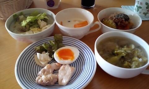 1日2食でプチ断食ダイエット&胸肉ソテーと半熟卵でランチ