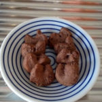 ココアと米粉などで簡単ヘルシーチョコクッキーのレシピ