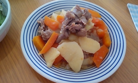 ラムの肉じゃがを圧力鍋で作ってみた!