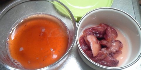 苺の酵素ドリンク