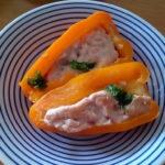オレンジ色パプリカの肉詰め(鶏ひき肉)が美味しかったレシピ!効能効果も