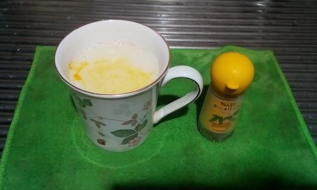 ターメリック(秋ウコン)入り豆乳お湯割りとゼリー!効能効果