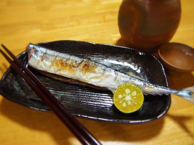 秋刀魚とシークワーサー